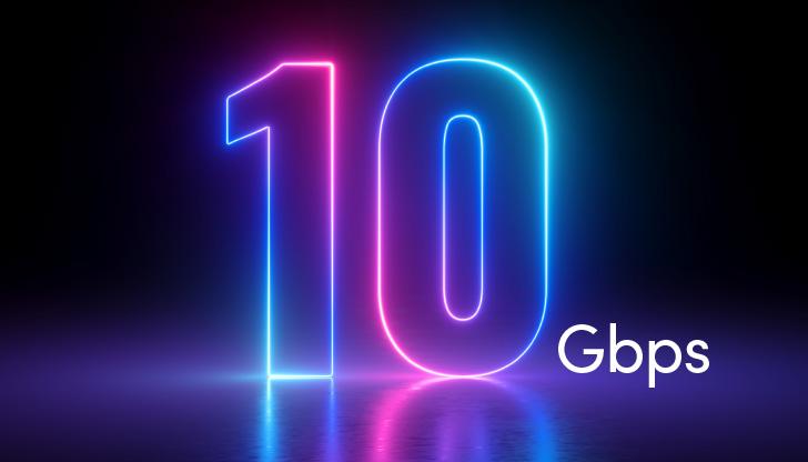 Оптичен интернет със скорост 10 Gbps